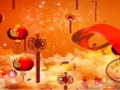 《 张灯结彩》喜庆中国结大红灯笼绸子舞台