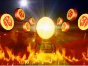 中国龙水鼓舞打大鼓火焰|舞蹈表演舞台演出LED高清视频背景素材