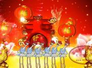 开门红+小鸡小鸡 喜庆动画 儿童节文艺演出舞台LED背景视频