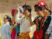 《中华手拉手》群舞|56个民族|大团结|舞台大屏幕LED背景视频